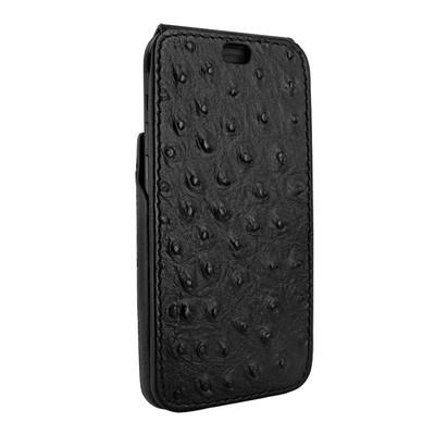 Piel Frama iPhone X iMagnum Leather Case - Black Cowskin-Ostrich