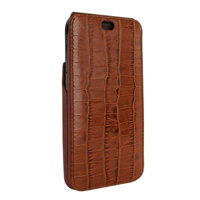 Piel Frama iPhone X iMagnum Leather Case - Brown Cowskin-Crocodile