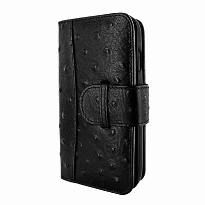 Piel Frama iPhone X WalletMagnum Leather Case - Black Cowskin-Ostrich