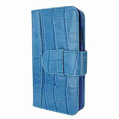 Piel Frama iPhone X WalletMagnum Leather Case - Blue Cowskin-Crocodile