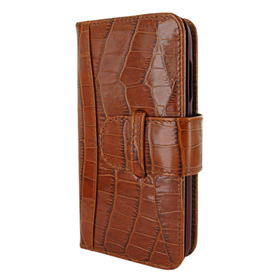 Piel Frama iPhone X WalletMagnum Leather Case - Brown Cowskin-Crocodile