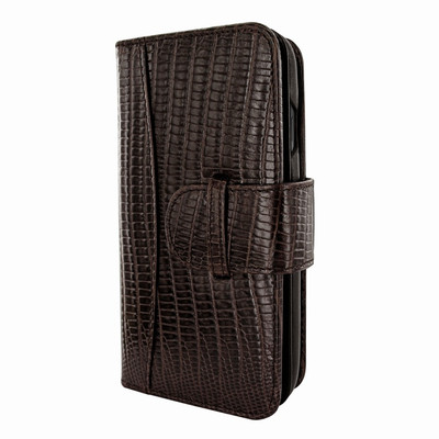Piel Frama iPhone X WalletMagnum Leather Case - Brown Cowskin-Lizard
