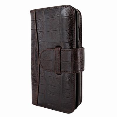 Piel Frama iPhone X WalletMagnum Leather Case - Brown Wild Cowskin-Crocodile