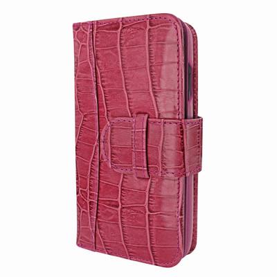 Piel Frama iPhone X WalletMagnum Leather Case - Fuchsia Cowskin-Crocodile