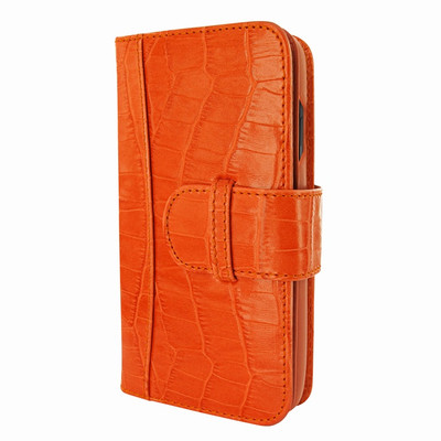 Piel Frama iPhone X WalletMagnum Leather Case - Orange Cowskin-Crocodile