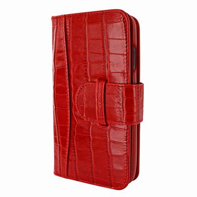 Piel Frama iPhone X WalletMagnum Leather Case - Red Cowskin-Crocodile