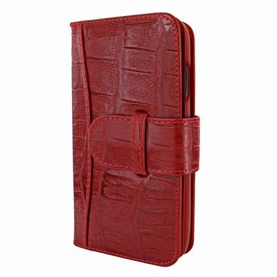 Piel Frama iPhone X WalletMagnum Leather Case - Red Wild Cowskin-Crocodile