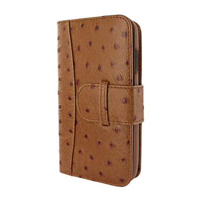 Piel Frama iPhone X WalletMagnum Leather Case - Tan Cowskin-Ostrich
