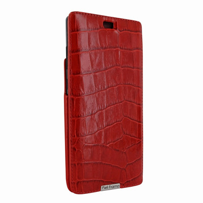 Piel Frama Samsung Galaxy Note 8 iMagnum Leather Case - Red Cowskin-Crocodile