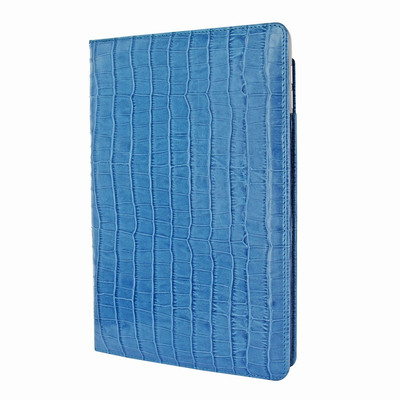 Piel Frama iPad Pro 12.9 2017 Cinema Leather Case - Blue Cowskin-Crocodile