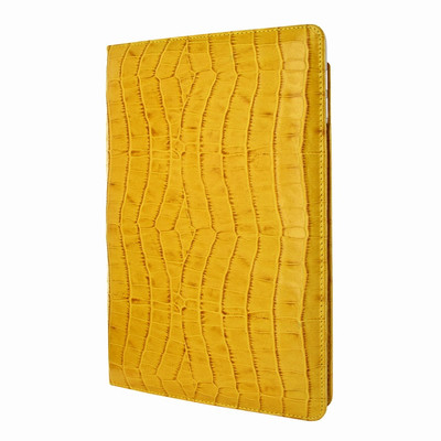Piel Frama iPad Pro 12.9 2017 Cinema Leather Case - Yellow Cowskin-Crocodile
