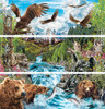 River of Life - 3 x 500pc Panoramic Jigsaw Puzzle by Masterpieces (discon)
