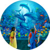 Dolphin Encounter - 500pc Round Jigsaw Puzzle by Masterpieces (discon)