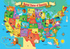 USA Wood Map - 44pc Jigsaw Puzzle By Masterpieces