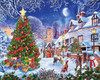 Village Christmas Tree - 1000pc Jigsaw Puzzle By White Mountain