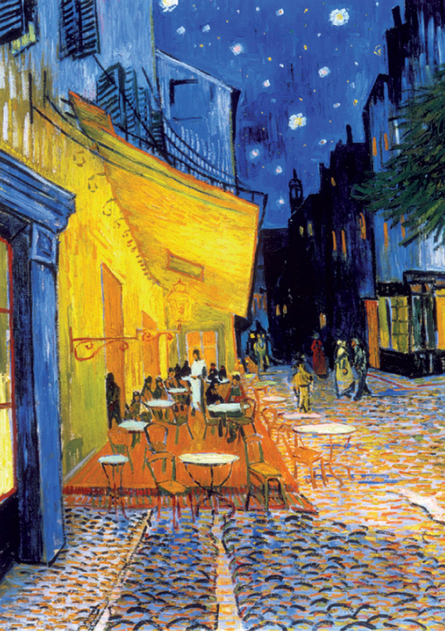 D Toys Caf 233 Terrace At Night Van Gogh Jigsaw Puzzle