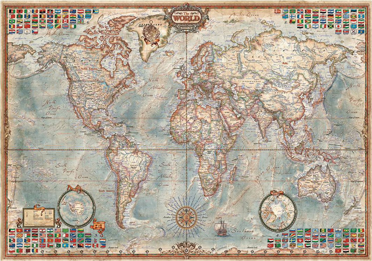 The world executive map 4000pc jigsaw puzzle by educa educa jigsaw puzzles the world executive map gumiabroncs Choice Image