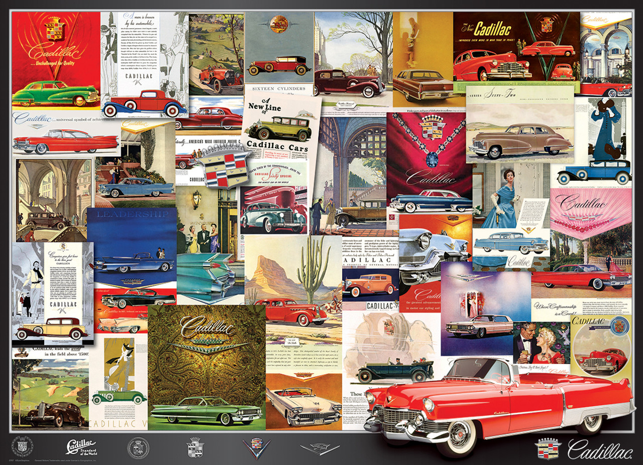 Vintage Car Ads, Cadillac - 1000pc Jigsaw Puzzle by EuroGraphics ...