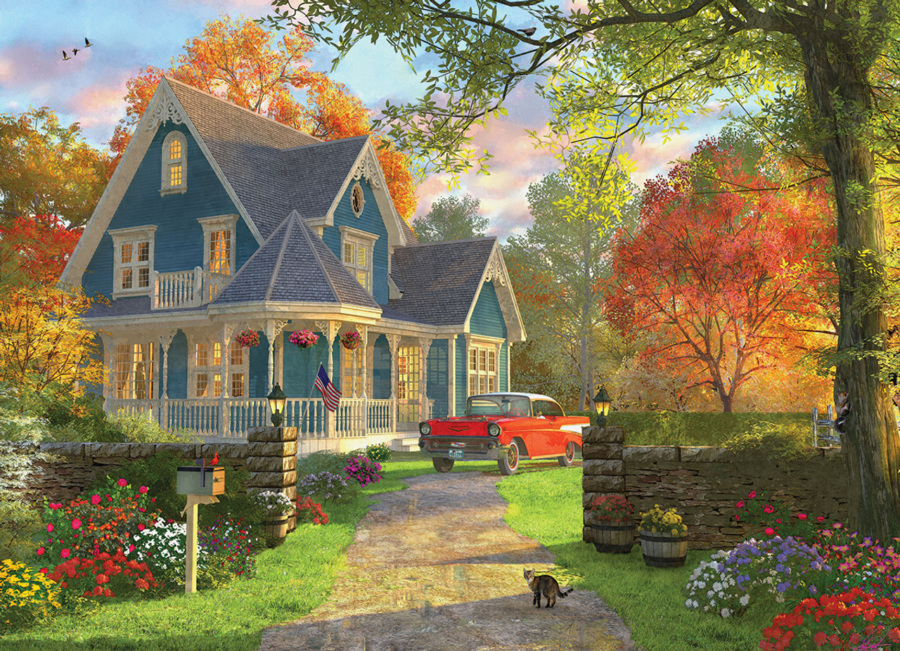 The Blue Country House By Dominic Davison 1000pc Jigsaw