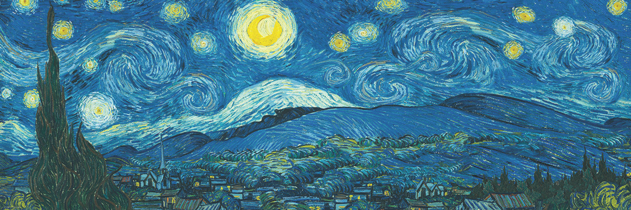 starry night panorama expanded from original by vincent van gogh