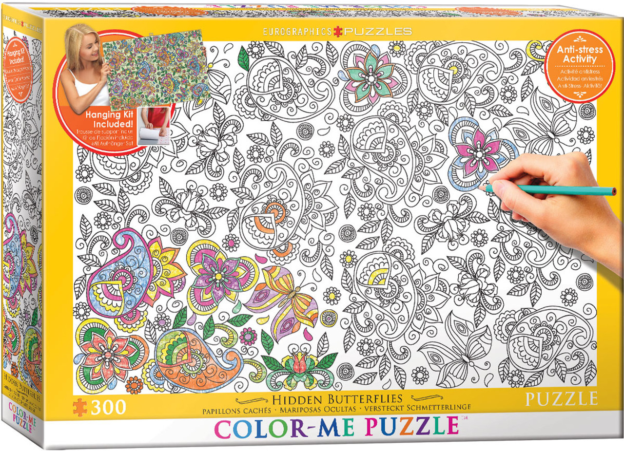 Color me puzzle hiden butterflies 300pc color yourself jigsaw color me puzzle hiden butterflies 300pc color yourself jigsaw puzzle by eurographics solutioingenieria Image collections