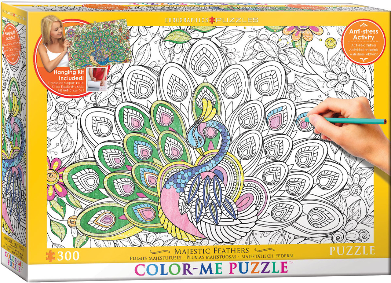 Color me puzzle majestic feathers 300pc color yourself jigsaw color me puzzle majestic feathers 300pc color yourself jigsaw puzzle by eurographics solutioingenieria Image collections
