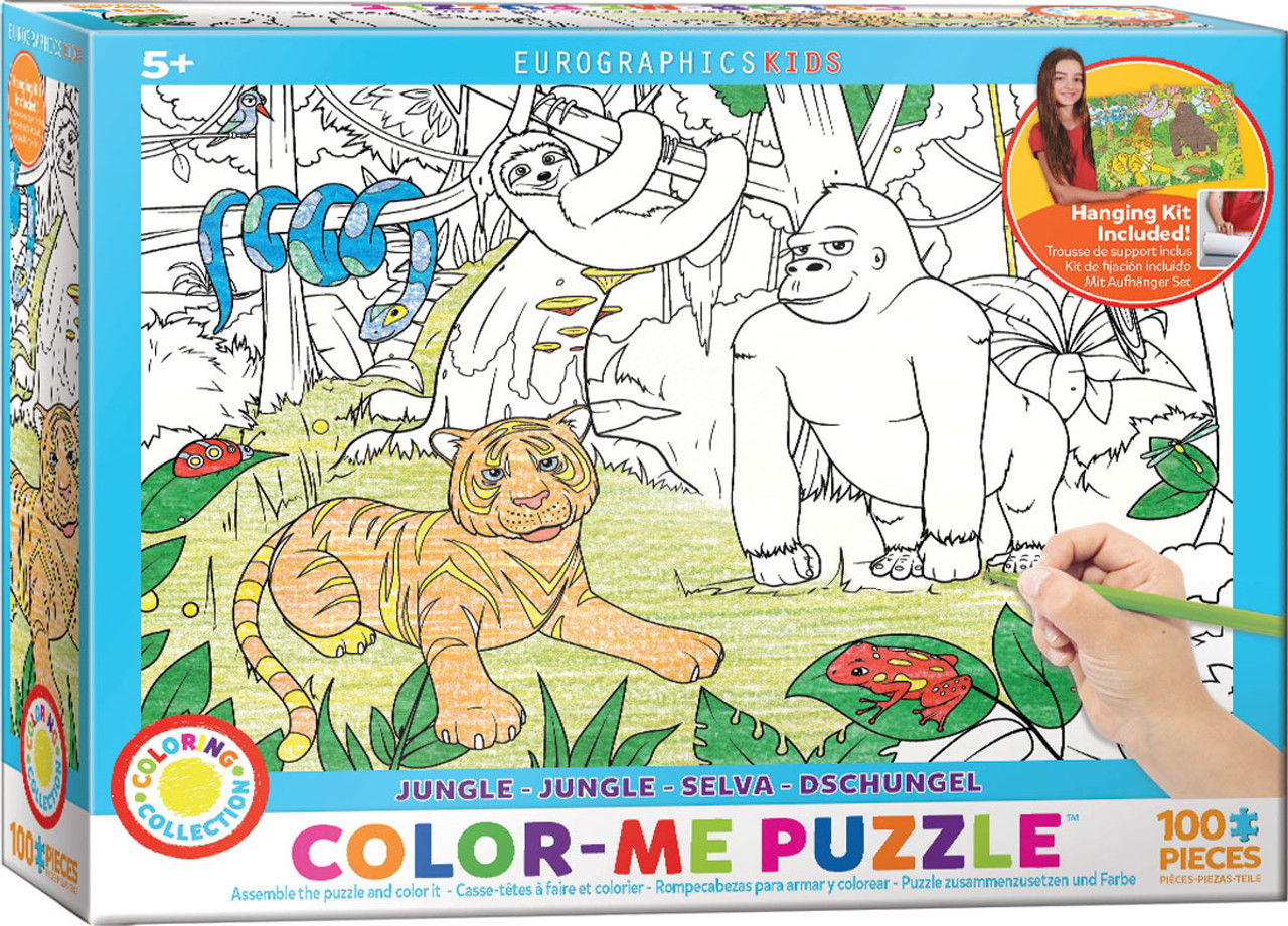 Color me puzzle jungle 100pc color yourself jigsaw puzzle by color me puzzle jungle 100pc color yourself jigsaw puzzle by eurographics solutioingenieria Image collections