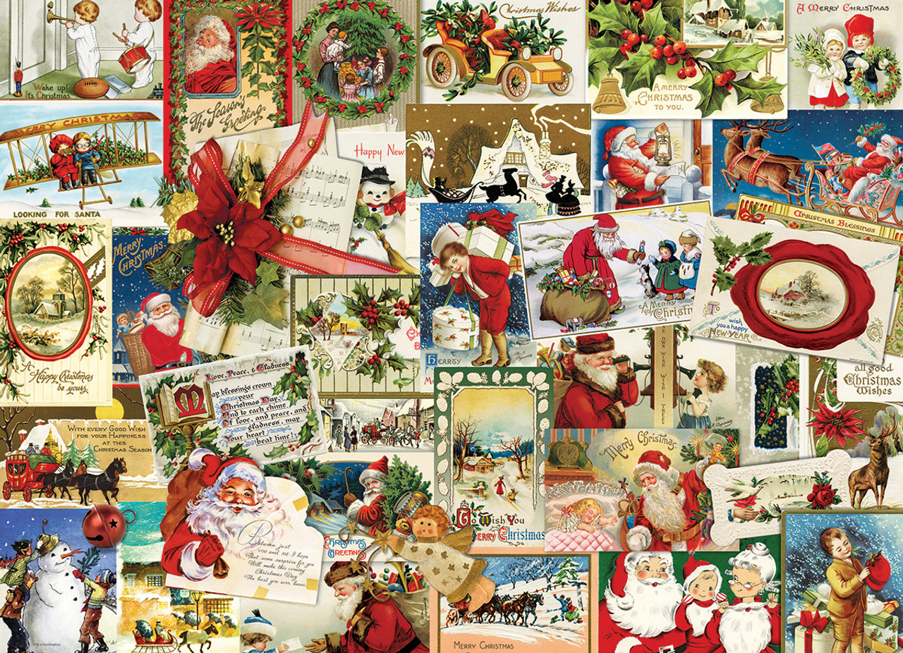 Vintage Christmas Cards - 1000pc Jigsaw Puzzle by Eurographics ...