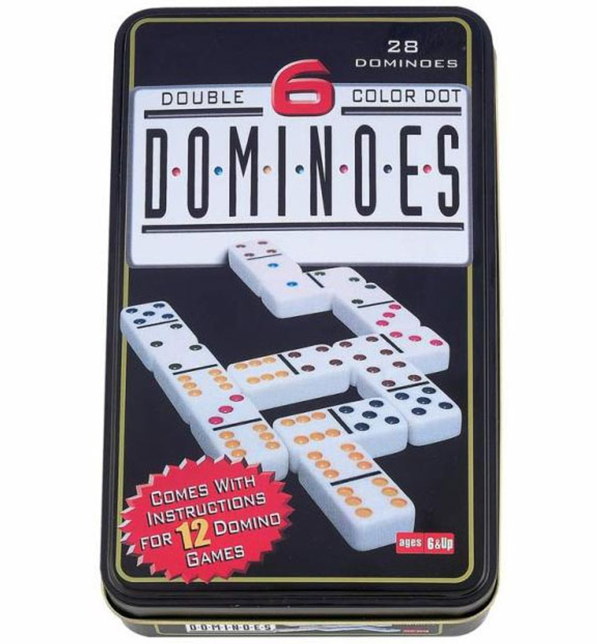 Double 6 Domino In Tin Classic Game Seriouspuzzles