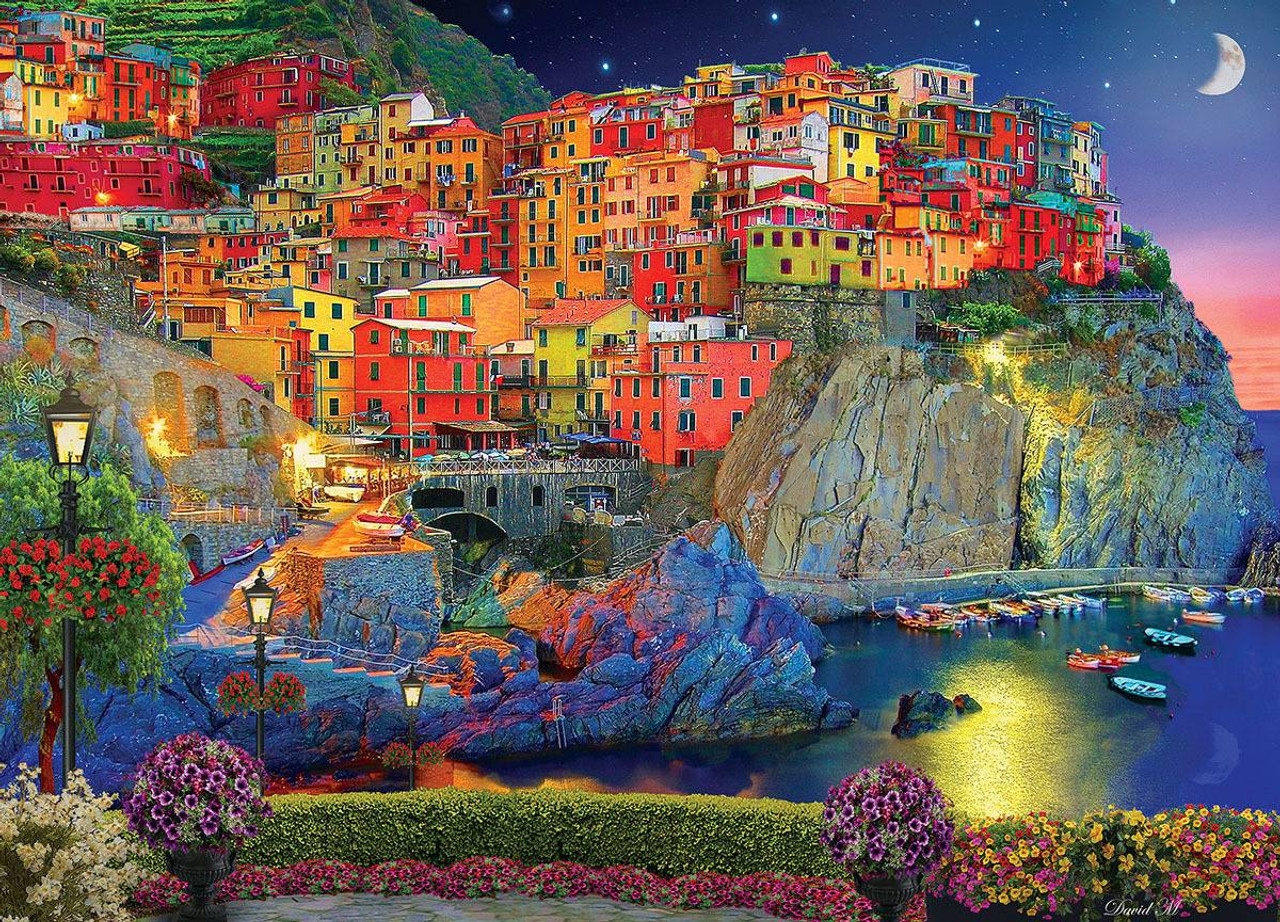 cinque terre italy 2000pc jigsaw puzzle by buffalo games