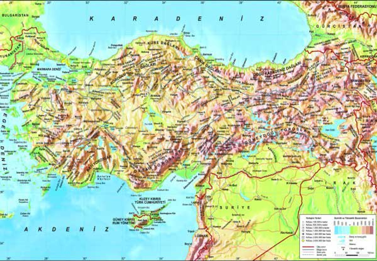 turkey topographical map 260pc jigsaw puzzle by anatolian