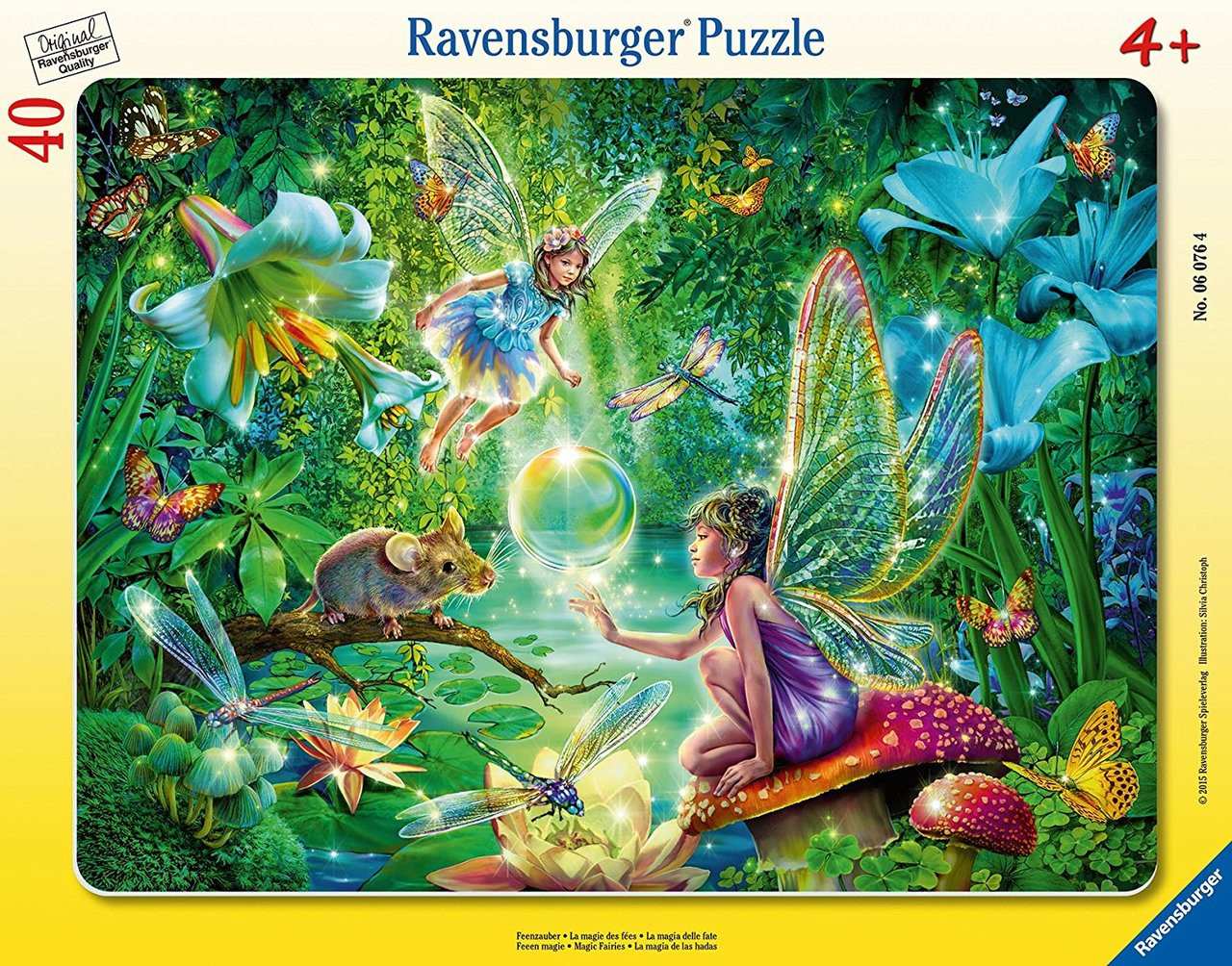 Fairy Magic - 40pc Frame Puzzle by Ravensburger - SeriousPuzzles.com
