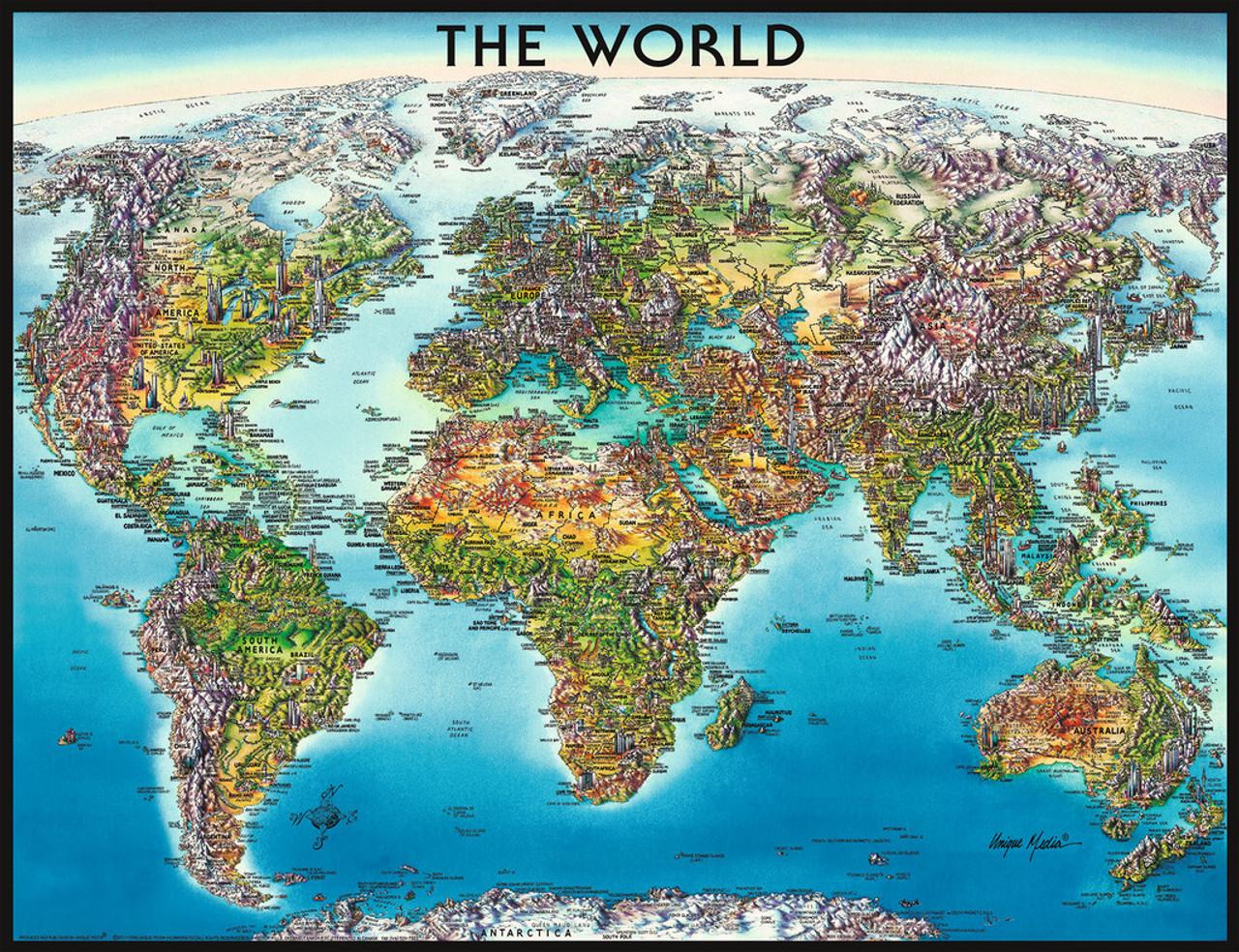 Ravensburger world map jigsaw puzzle seriouspuzzles ravensburger jigsaw puzzles world map gumiabroncs Images
