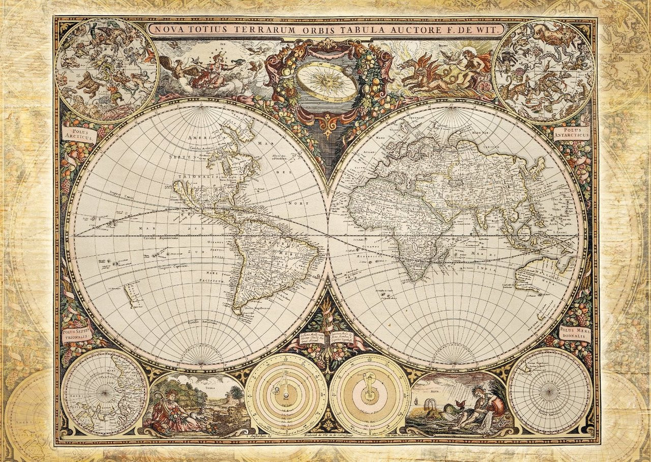 Schmidt historical world map jigsaw puzzle seriouspuzzles schmidt historical world map jigsaw puzzle gumiabroncs Image collections