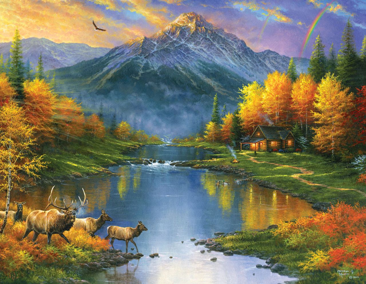 Mountain Retreat 1000pc Large Format Jigsaw Puzzle By Sunsout