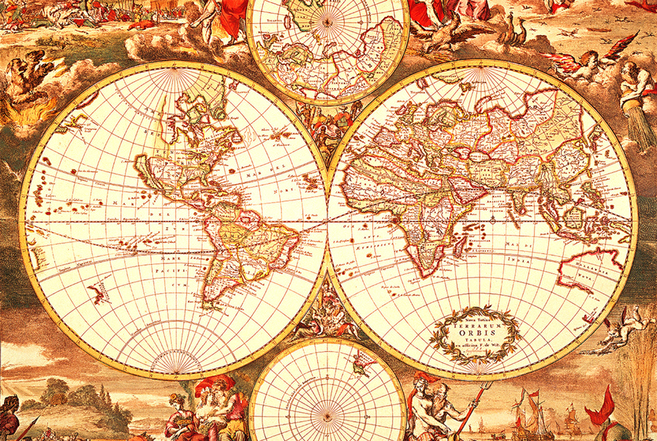 Historical world map 1000pc jigsaw puzzle by tomax tomax jigsaw puzzles historical world map gumiabroncs Choice Image