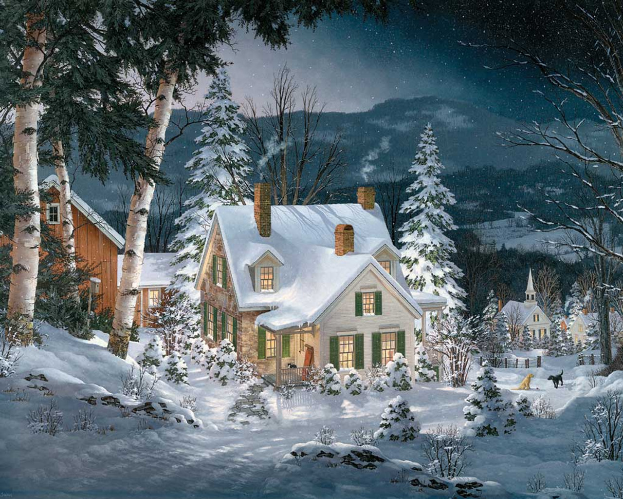 friends in winter 1000pc jigsaw puzzle by white mountain
