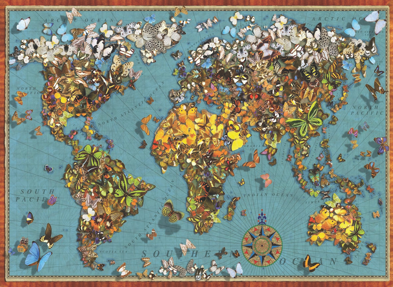 Butterfly world map 1000pc jigsaw puzzle by anatolian butterfly world map 1000pc jigsaw puzzle by anatolian gumiabroncs Image collections