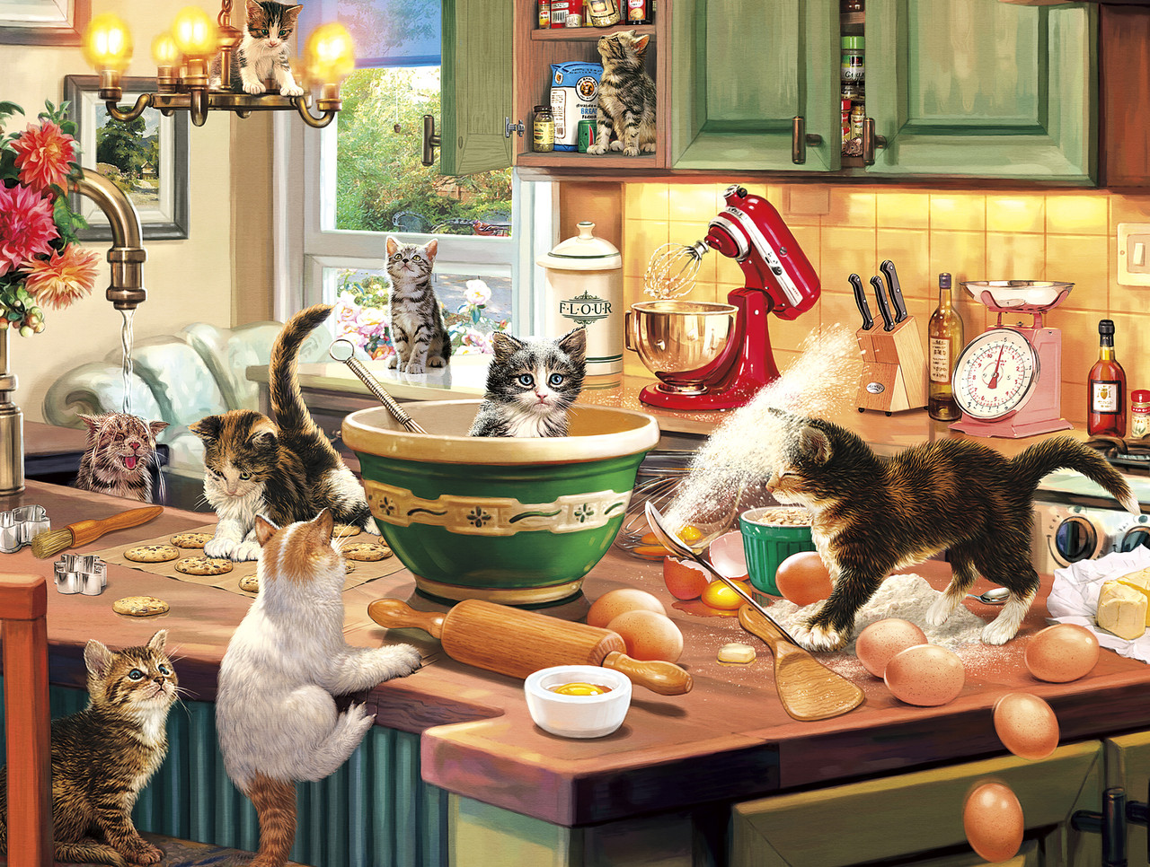 Kitten Kitchen Capers   750pc Jigsaw Puzzle By Buffalo Games