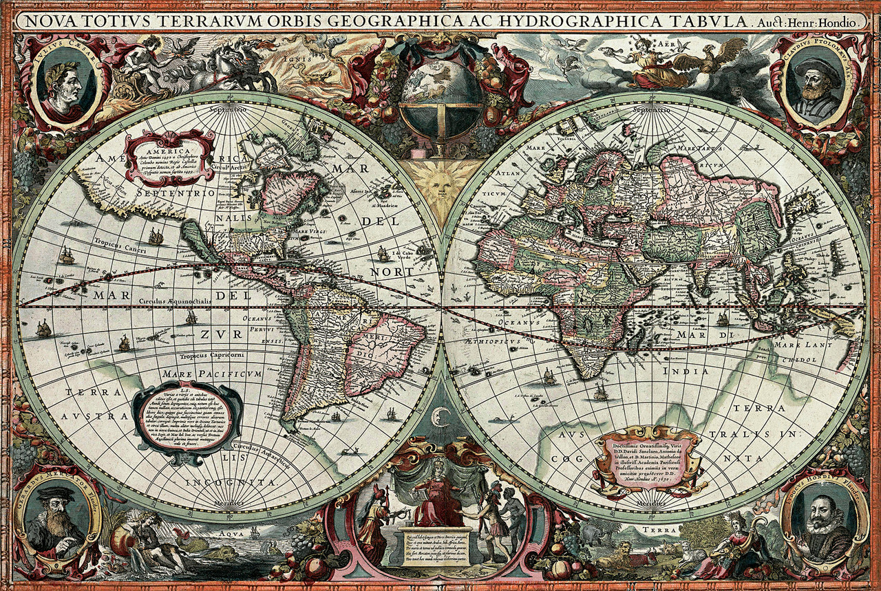 Historical old world map 1000pc jigsaw puzzle by tomax historical old world map 1000pc jigsaw puzzle by tomax gumiabroncs Choice Image