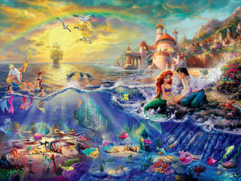 Thomas Kinkade Disney Dreams The Little Mermaid