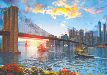 4000pc jigsaw puzzles seriouspuzzles the world executive map 4495 brooklyn bridge 4000pc jigsaw puzzle by educa gumiabroncs Images