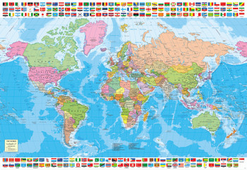 The world executive map 4000pc jigsaw puzzle by educa political world map 1500pc jigsaw puzzle by educa gumiabroncs Images