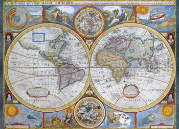 Antique world map 1000pc jigsaw puzzle by educa seriouspuzzles antique world map 1595 educa jigsaw puzzles the world executive map educa 4000pc gumiabroncs Images
