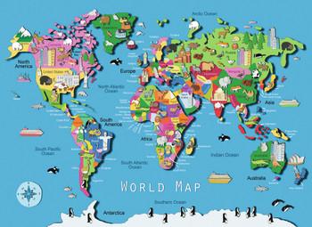 Ravensburger world map jigsaw puzzle seriouspuzzles jigsaw puzzles for kids world map gumiabroncs Gallery