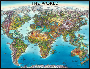 Antique world map 1000pc jigsaw puzzle by educa seriouspuzzles ravensburger jigsaw puzzles world map gumiabroncs Images