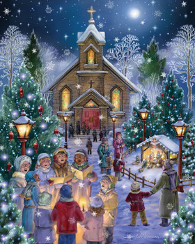midnight mass 1000pc jigsaw puzzle by vermont christmas company