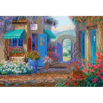 Courtyards: Floral Invitation   500pc Jigsaw Puzzle By Holdson