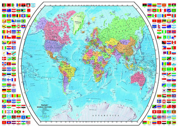 Educa political map of the world jigsaw puzzle seriouspuzzles political world map 1795 political map of the world 1000pc miniature jigsaw puzzle by educa gumiabroncs Images
