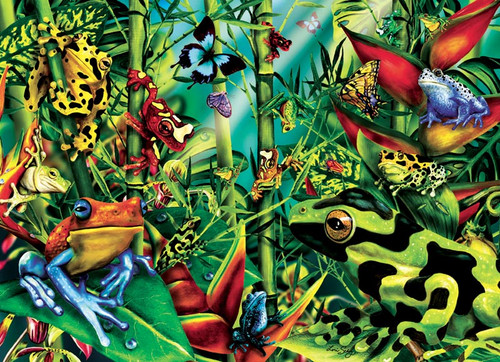 Who Let The Frogs Out(discon) - 1000pc Jigsaw Puzzle by Cobble Hill (discon)